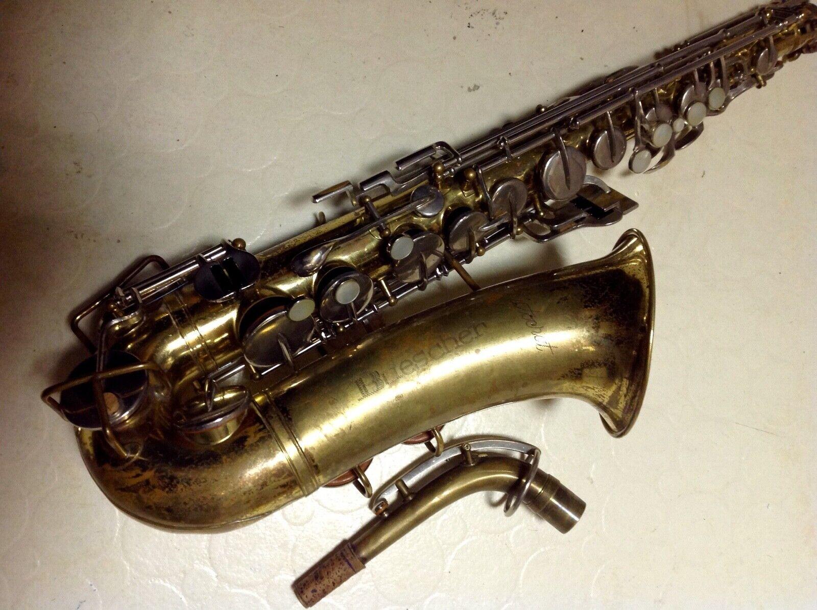 Buescher vintage alto alto alto saxos Model s-33 82ebcf