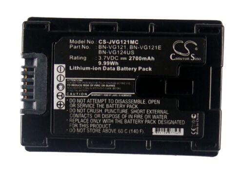 gz-hd620u NUOVO gz-e300bu BATTERIA PREMIUM per JVC gz-ms230ru GZ-MS230 GZ-MS118