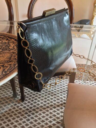 noir vintage des Superbe de vᄄᆭritable annᄄᆭes 40100peau sac lᄄᆭzard rBdoCxe