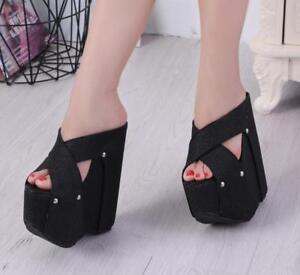 WOmens 18cm Super High Wedge Heels