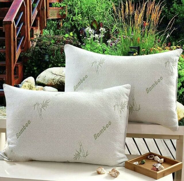 Hotel Bamboo Bamboo Memory Foam Pillow Hypoallergenic Cozy Queen King Size