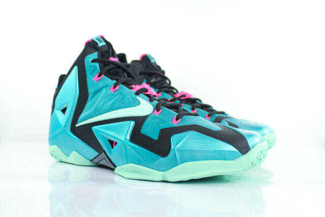 new arrival b8619 6475f NIKE AIR LEBRON 11 XI SOUTH BEACH DS 616175-330 DS SIZE 11