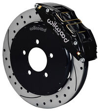 "WILWOOD DISC BRAKE KIT,FRONT,05-13 MAZDA 3,13"" DRILLED ROTORS,6 PISTON BLACK CAL"