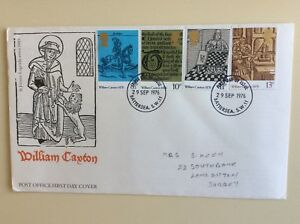 Post-Office-First-Day-Cover-William-Caxton