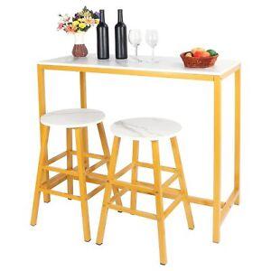 Ensemble de meuble pour salle à manger MDF Table tabouret de bar chaises