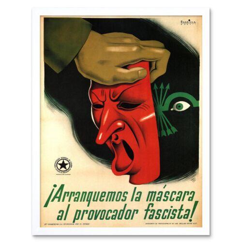 War Propaganda Spanish Civil Anti Fascist Ugt Republican Spain Framed Art Print
