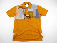 JUNYA WATANABE COMME DES GARCONS SMALL PATCHWORK PATCH ART JAPAN POLO SHIRT NWT