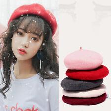 f71596242b7 Fashion Lady Women Wool Felt Warm French Classic Beret Beanie Slouch Hat  Cap Tam