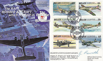 RAFA20 RFDC WW2 WWII Bomber Aircraft in the Battle of Britain signed HAWORTH DFC