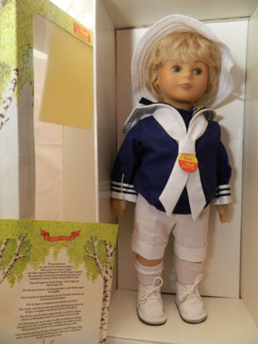 42 cm Nr 1987 Stoffpuppe 9210/42 Steiff Puppe Bernd