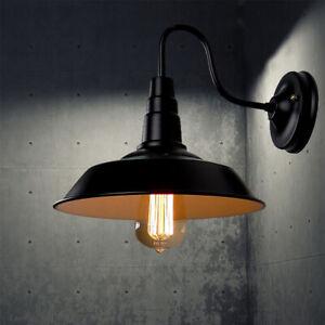 Outdoor-Indoor-Barn-Gooseneck-Arm-Wall-Mount-Lamp-Industrial-Vintage-Wall-Light
