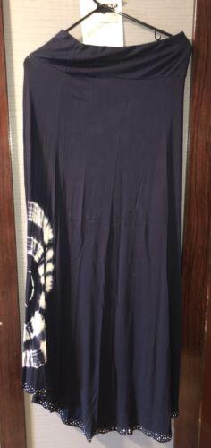 Rose & Ali Skirt Navy Blue Crystal Studs Size S
