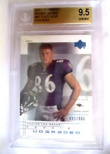 Todd-Heap-2001-UD-Graded-Portrait-Rookie-492-900-Graded-GEM-MT-BGS9-5-Ravens-RC