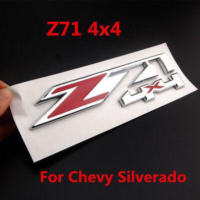Black Silver Chrome Car Offroad Z71 4x4 Emblem Sticker Badge Chevy Silverado GMC 4x4