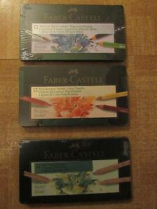 3-Sets-Faber-Castell-Pitt-Pastel-Albrecht-Durer-W-Color-Polychromos-Pencils