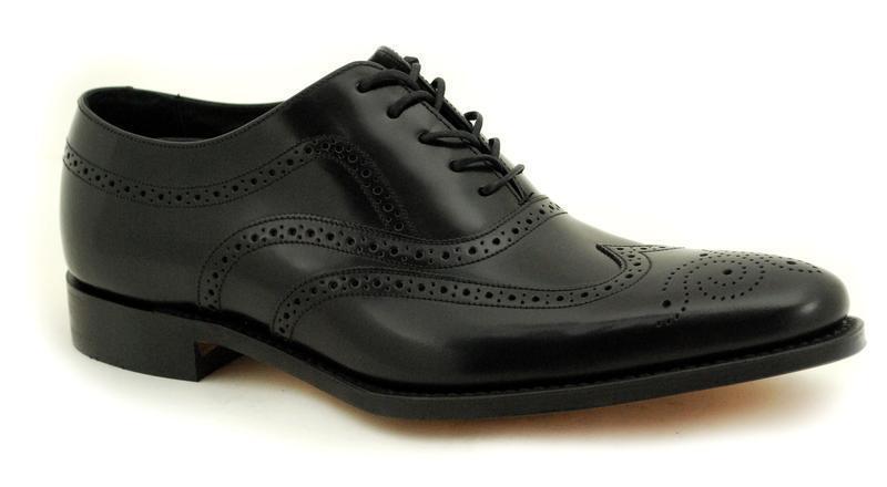 Loake Cousues Trépointe Premium Chaussures Homme 5 Œil Jones Noir