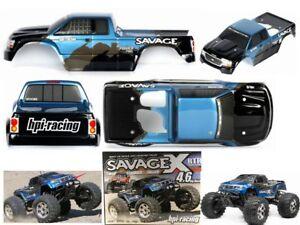 New 1 8 Truggy Hpi Racing Savage 4 6xl 5 9 Flux Rc Car Body Shell 450mm 4wd Ebay