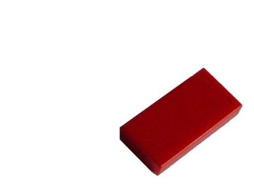 3069b Lego 100 Stück Rosso Piastrella 1x2 Nuovo City Basics