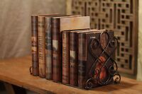 Decorative Heavy Duty Bookends - Metal Large Book Ends - Vintage Tall Books S...