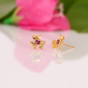 14 Karat Gold Rosa Turmalin Ohrringe Naturedelstein Nieten Weihnachtsgeschenke