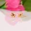 Indexbild 1 - 14 Karat Gold Rosa Turmalin Ohrringe Naturedelstein Nieten Weihnachtsgeschenke