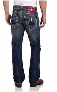 Ricky Super 40 Jeans Di True Religion Marca Rosso T X Uomo Basse 34 Brillante wWPXqYSTS