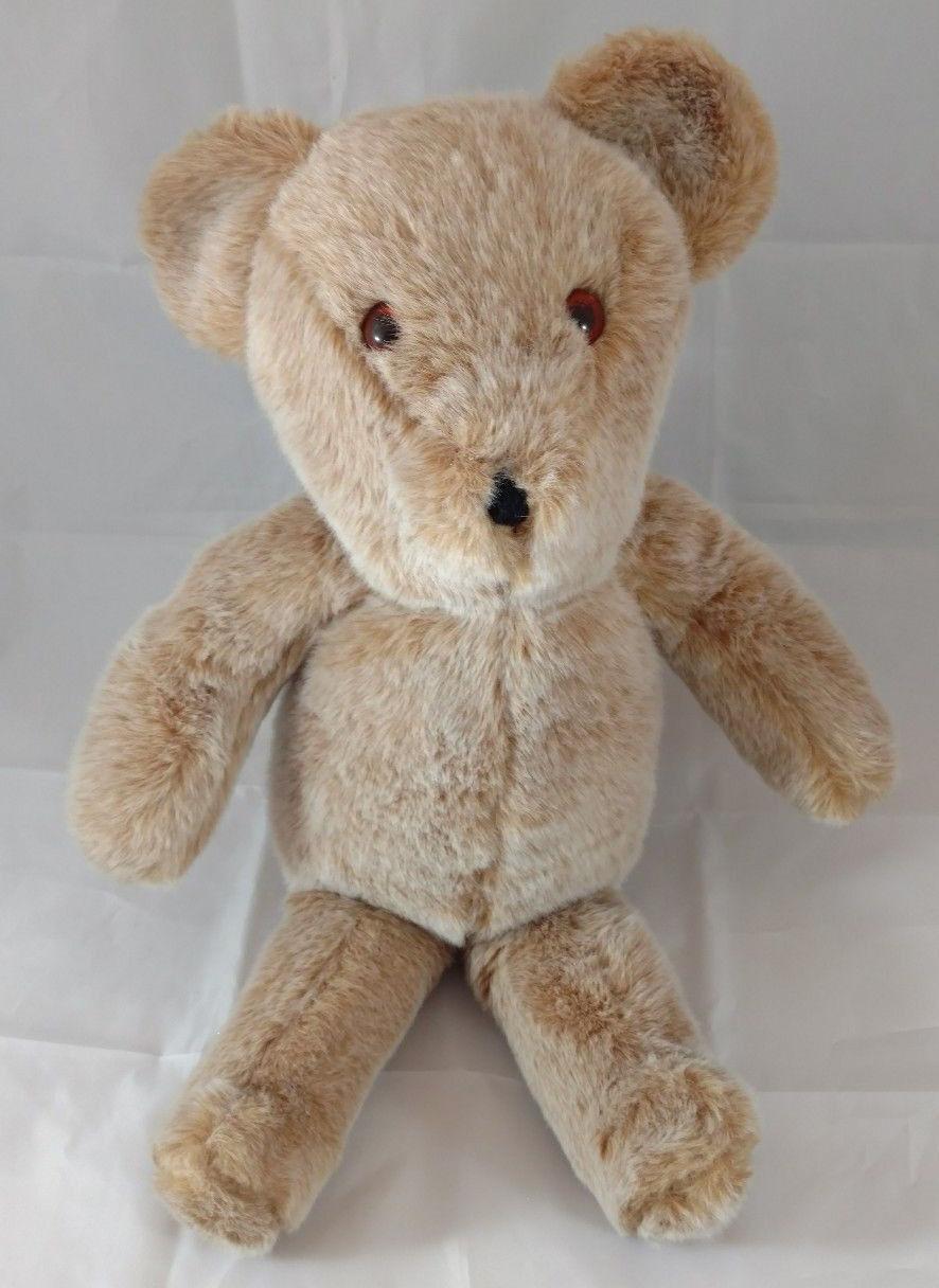Vintage Teddy Bear Alresford Crafts Ltd Smiling Bear 18  Made in England 1970s
