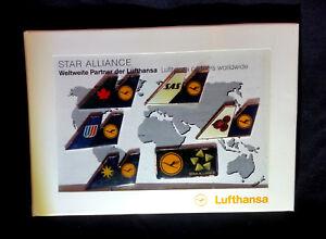 6-Anstecker-Pin-Lufthansa-Sammler-Star-Alliance-Worldwide-Flughafen-Airport