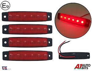 4x 12v rouge led lat ral arri re feux de position lampes. Black Bedroom Furniture Sets. Home Design Ideas