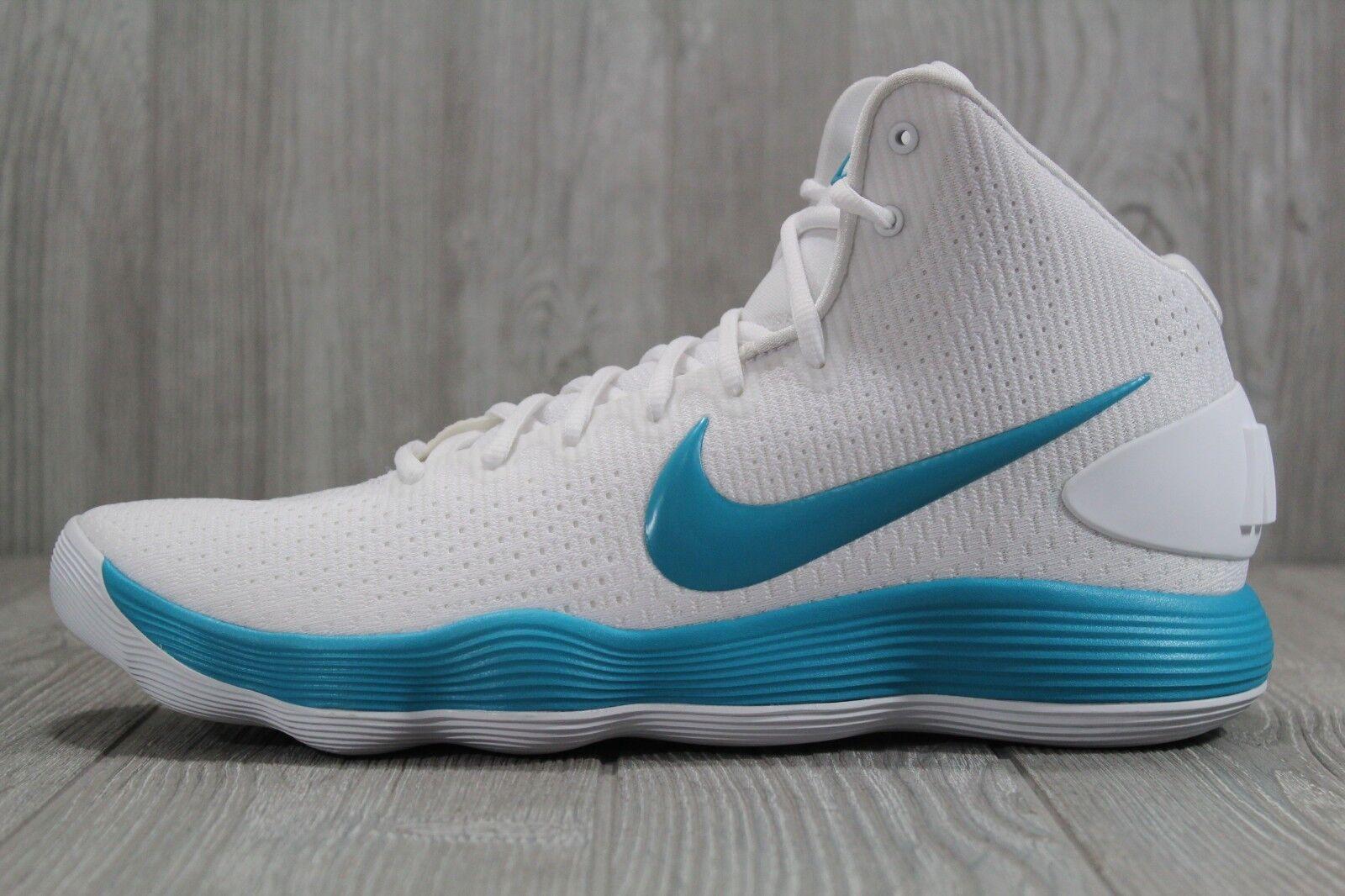 36 Nike Hyperdunk 2017 TB Men's Basketball shoes 942571-100 White Teal SZ 13.5