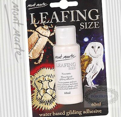 3pcs Mont Marte MAXX0024 leafing size water based gilding adhesive 60ml