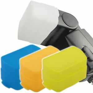 4x-Blitzlicht-Diffusor-passend-fur-Nikon-SB800-amp-Youngnuo-YN460-460II-YN467-468