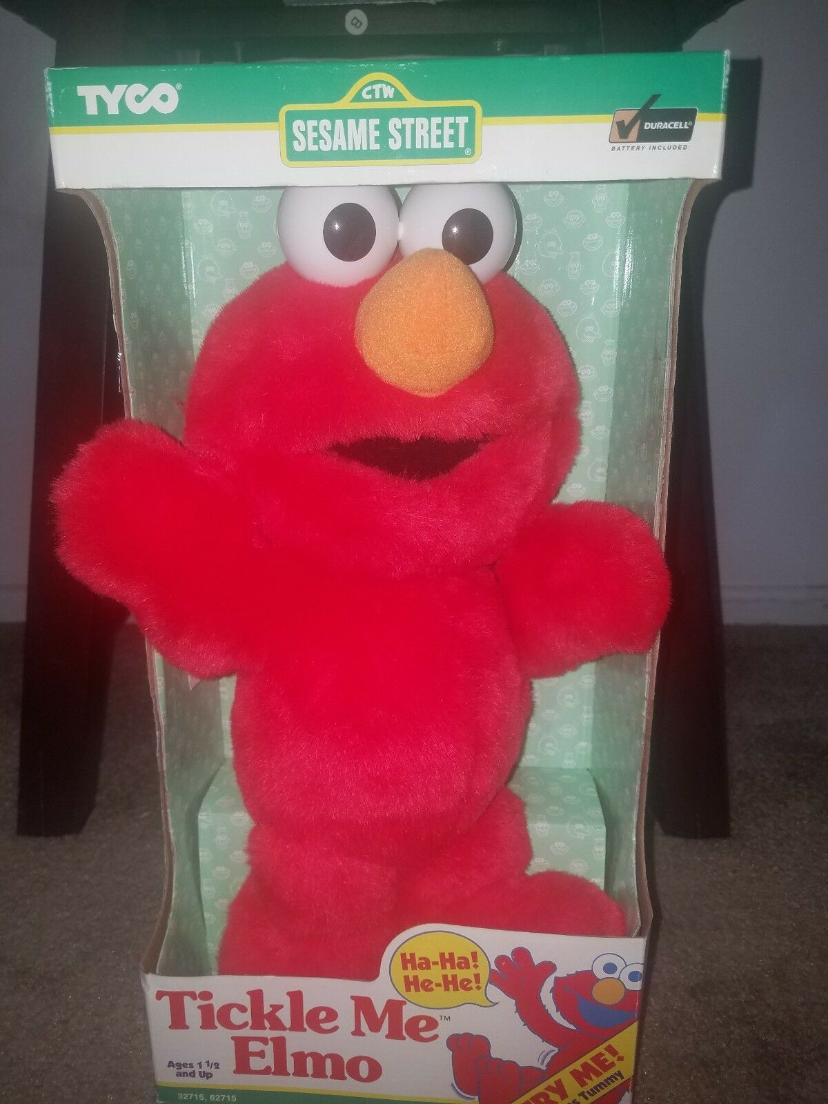 Original Tickle Me Elmo muñeca, por Tyco en 2018, totalmente nuevo en la Caja Raro