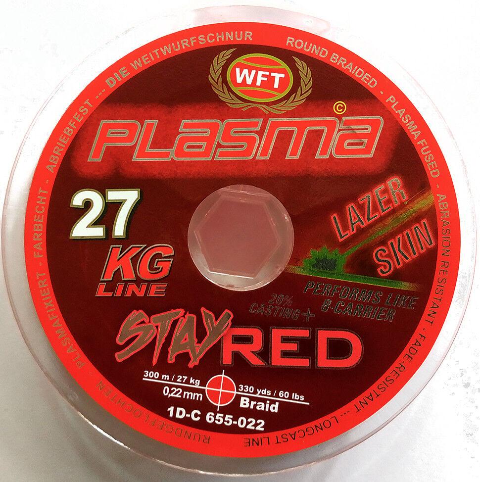 WFT Plasma 27KG Line Lazer  Skin color Red 0.22mm 300meters  cost-effective