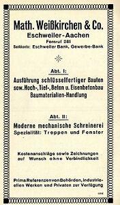 Bauunternehmen Aachen math weisskirchen co eschweiler bauunternehmen historische