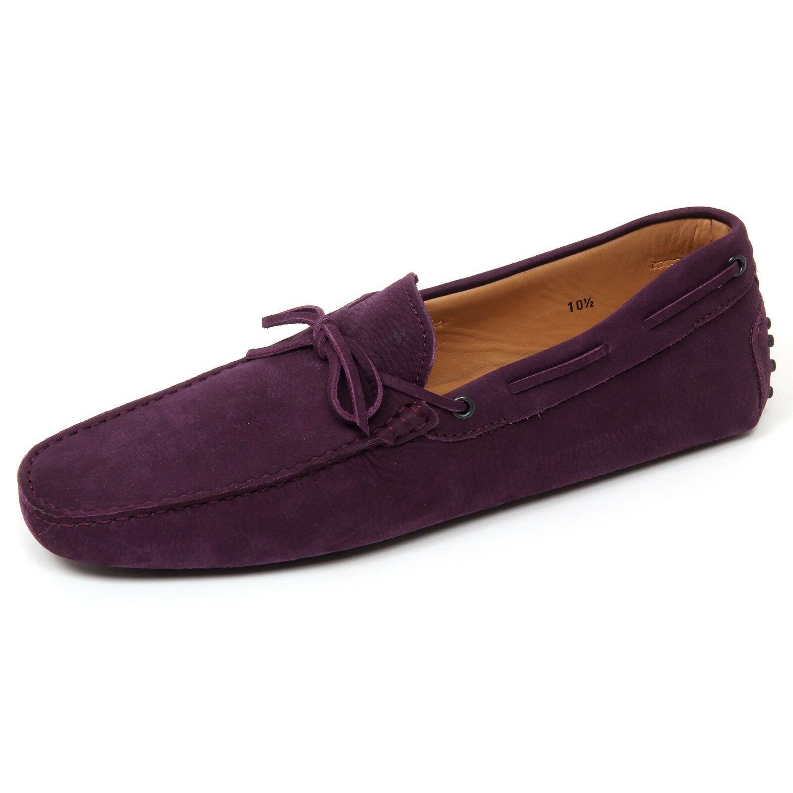 D0382 mocassino uomo TOD'S scarpa shoe new laccetto viola loafer shoe scarpa man 66d8d1