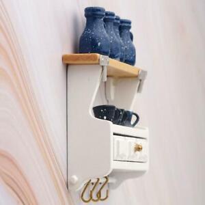 1-12-Dollhouse-Accessories-Miniature-Kitchen-Wood-Wall-Rack-w-Mounted-BEST-G2P5