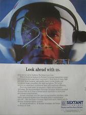 1/1991 PUB SEXTANT AVIONIQUE HELMET MOUNTED DISPLAY TIGRE HELICOPTER ORIGINAL AD