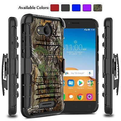 finest selection a32ff 339e7 For Alcatel Tetra 6753B/5041C Hybrid Hard Phone Case With Kickstand Clip  Holster | eBay