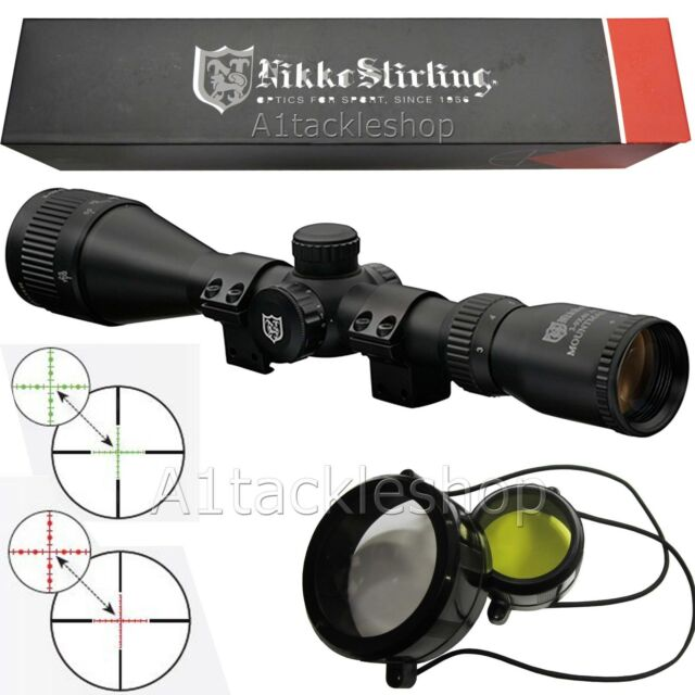 Nikko Stirling Mountmaster 3-9x40 AO IR Illuminated Rifle Scope Sight /& Mounts