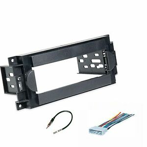 Single-Din-Dash-Kit-for-Chrysler-Dodge-Jeep-Stereo-Install-w-Harness-Antenna