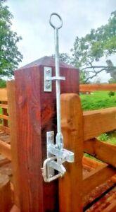 Field gate adjustable bottom eye 5 bar gate farm stables driveway horse tractor