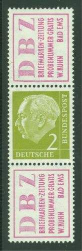 GERMANY BUNDESPOST MICHEL# S16 MINT VERY LIGHTLY HINGED AS SHOWN