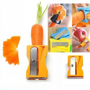 Carrot-Gurke-Schaerfer-Schaeler-Scheiben-Kuechen-Werkzeug-Gemuese-Obst