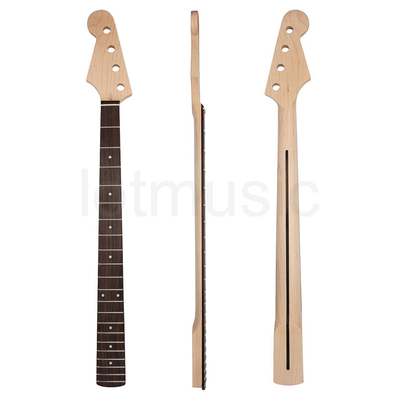 left handed electric bass guitar neck for precision bass parts maple rosewood ebay. Black Bedroom Furniture Sets. Home Design Ideas