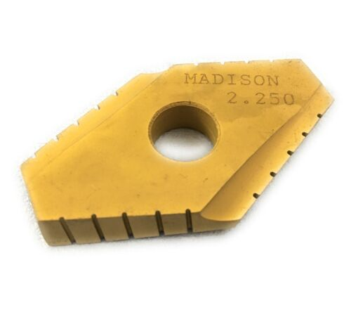 """Madison Cutting Tools CVD Coat Duodex Spade Indexable Inserts 2.25/"""" T-15 HSS"""