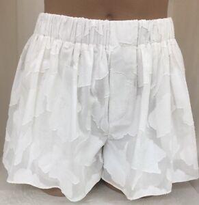 floreale Pantaloncini taglia stoffa Cotone osso fantasia bianco Xs e di q0FqOp