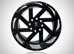 Brute Reaper Wheels 22x12 Gloss Black Milled 6x5 5 44 Offset 78 1