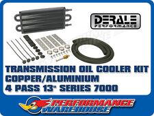 DERALE 13 INCH COPPER/ALUMINIUM TRANSMISSION OIL COOLER KIT 13101 HOLDEN FORD