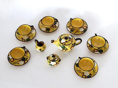 Entusiasta Sevizio Te' Bambole Completo Da 6, In Ceramica Anni '30 '40 Albissola Albisola